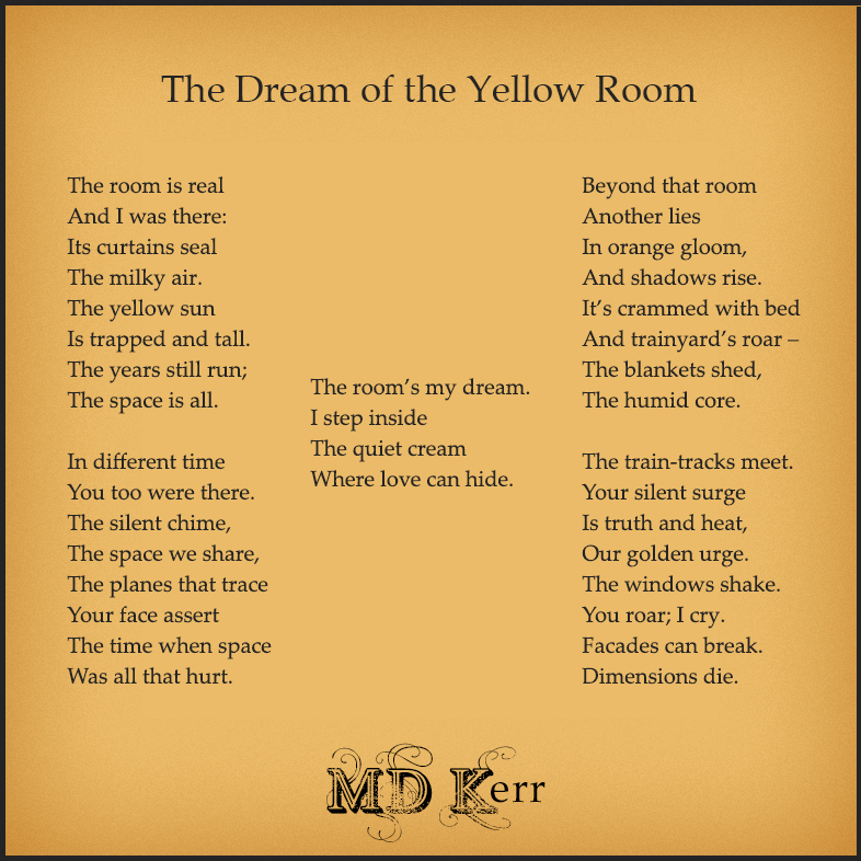 Text of the poem on a warm gold  background